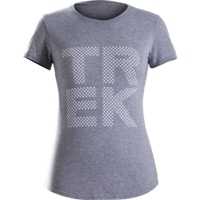 Shirt Trek Polka Dot T-Shirt Women L Grey