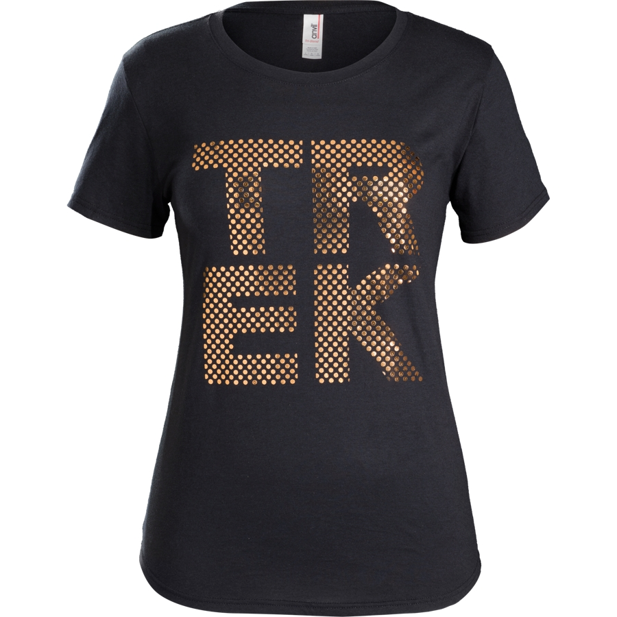 Shirt Trek Polka Dot T-Shirt Women L Black