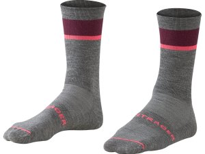 Bontrager Socke Race Crew Wool M (40-42) Grey/Mulberry